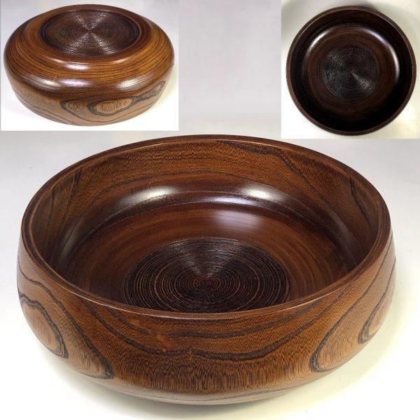 木製欅菓子鉢W8381