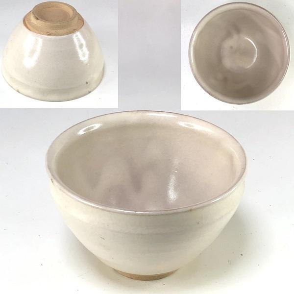 錦陶粉引湯呑