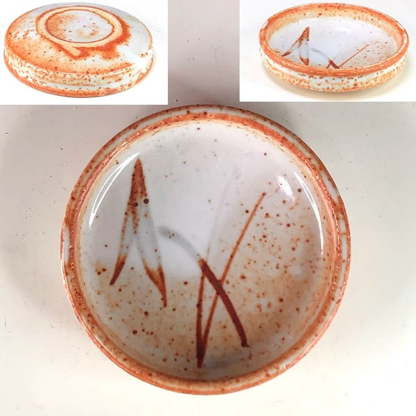 康元窯志野三つ足豆皿