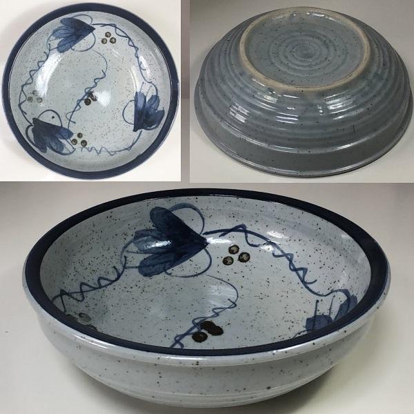 葡萄柄七寸鉢W7263