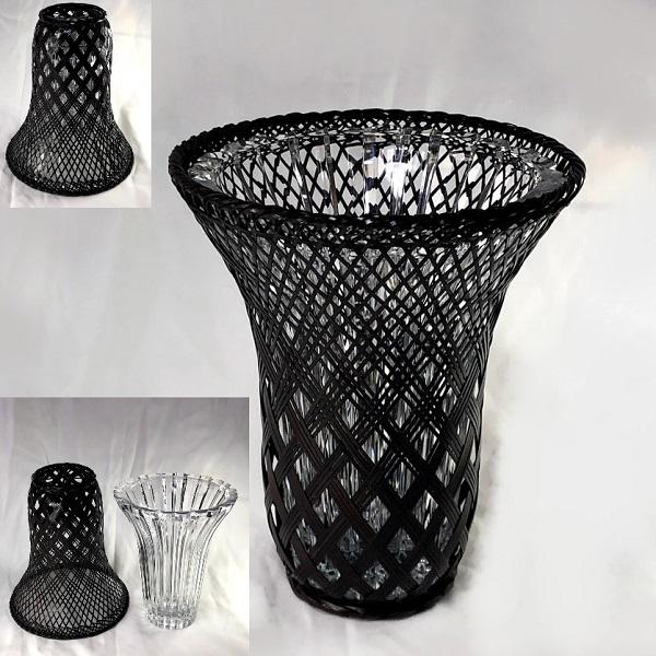 RICCARDOガラス網籠花瓶