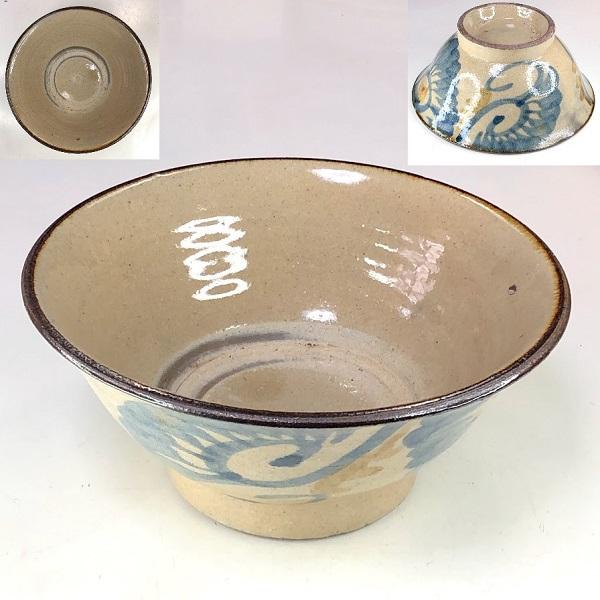 沖縄琉球やちむん丼鉢W8499