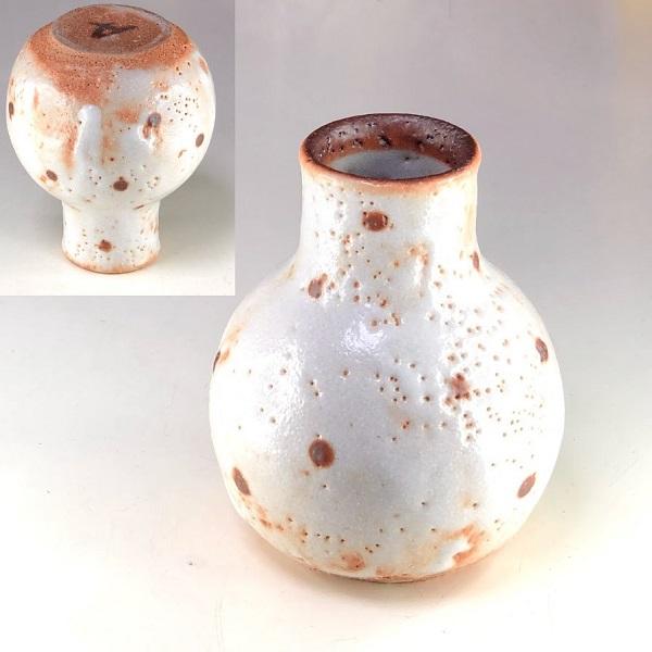 志野花瓶W8482