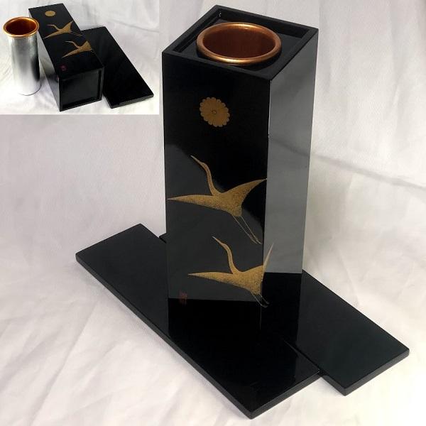 木製漆器花瓶W8492