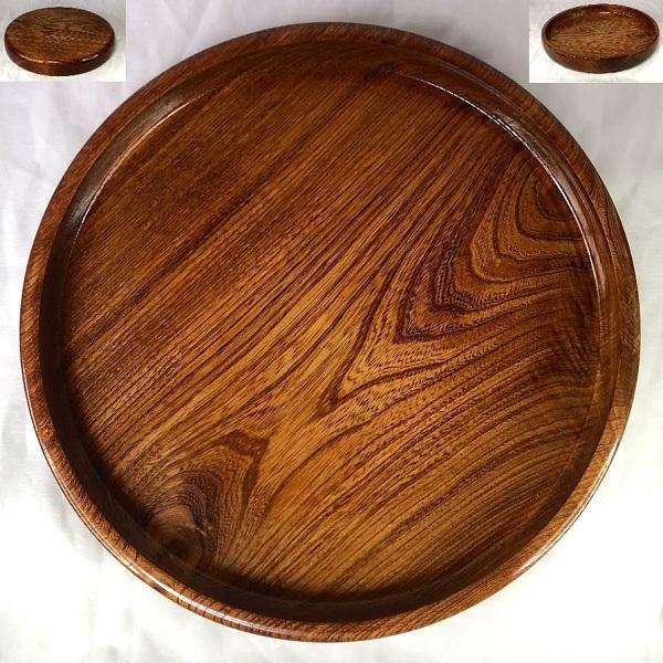木製くり抜き一尺丸盆W8506