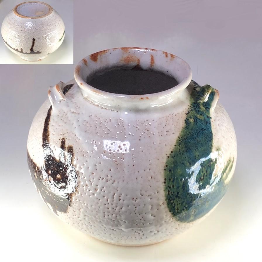 志野丸花瓶W8514