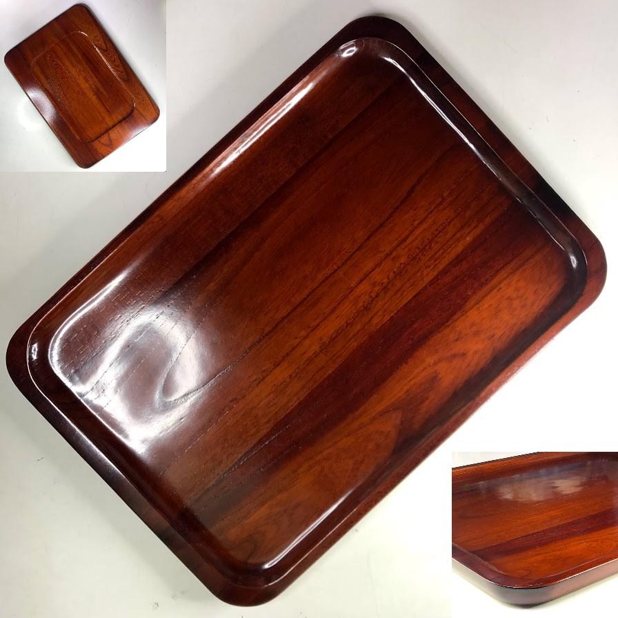 木製漆器角盆W8516