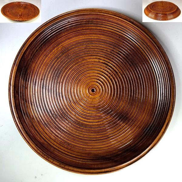 木製漆器乱盆一尺一寸丸盆