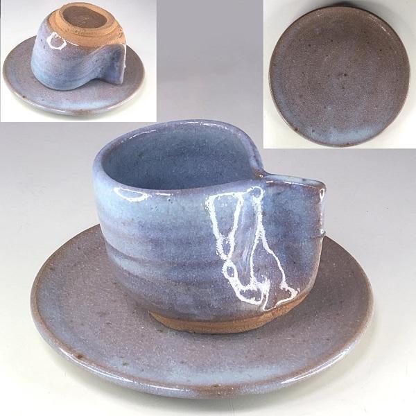 紀文鵜布釉碗皿
