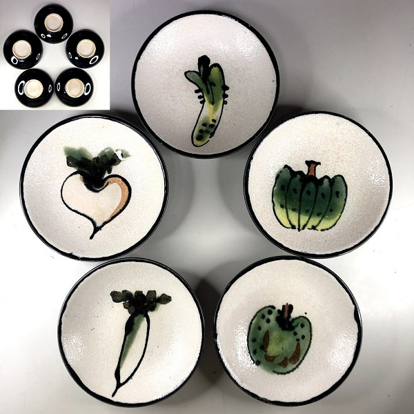 野菜柄銘々皿五枚セット
