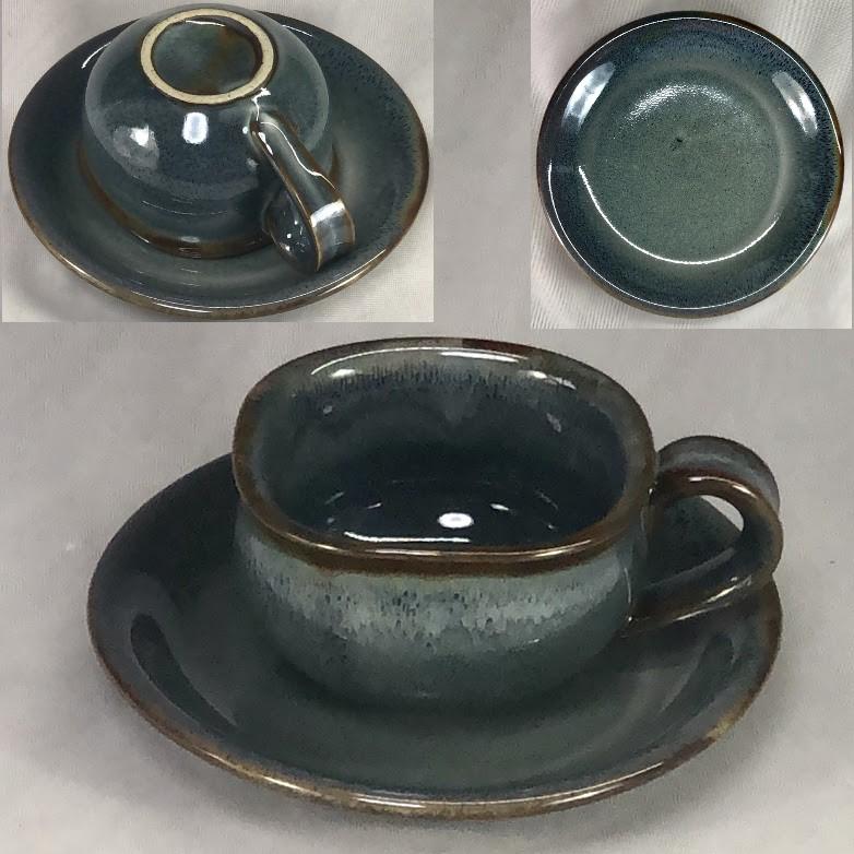 海鼠釉碗皿W7171