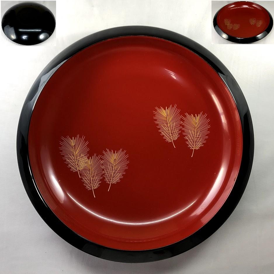輪島塗沈金松葉菓子鉢