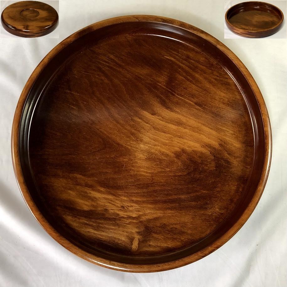 栃木製一尺一寸丸盆W6856