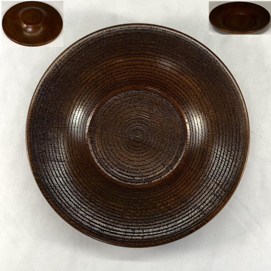 木製茶托五枚セットW6867