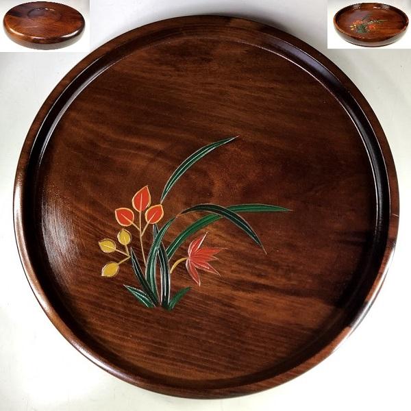 木製一尺丸盆W8627
