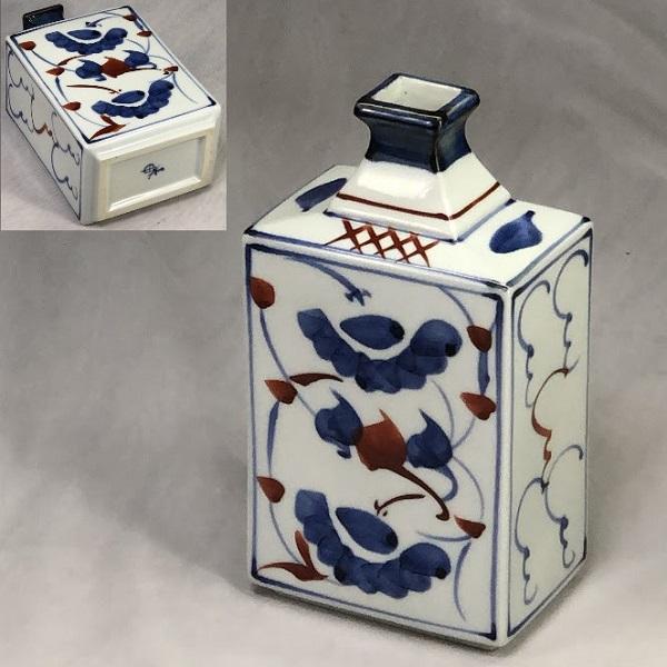 砥部焼梅山窯角花瓶