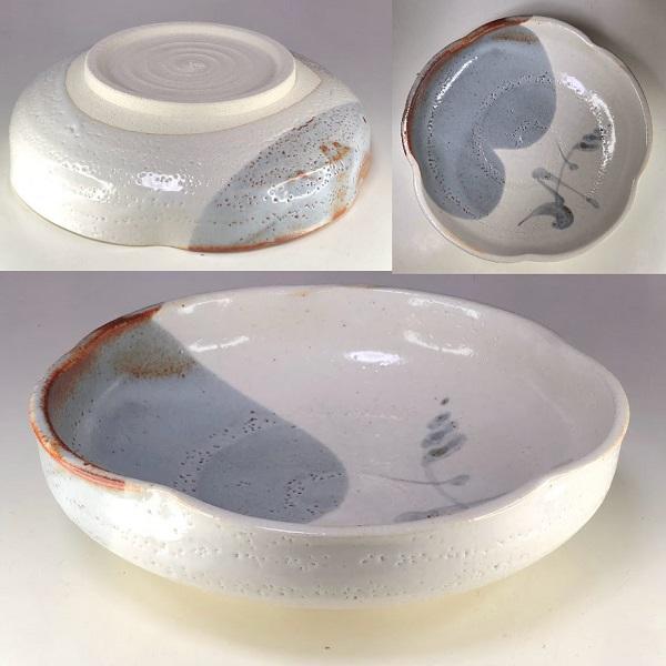 秀山窯志野菓子鉢W8697