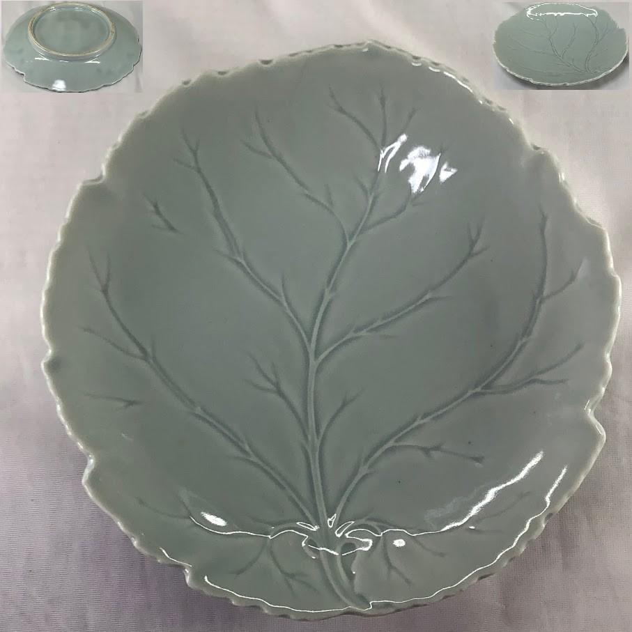 青白磁葉型六寸皿