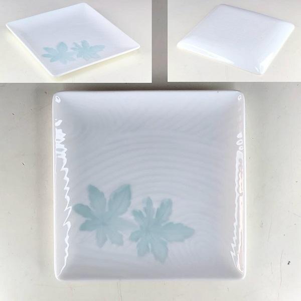 光峰白磁角皿小皿