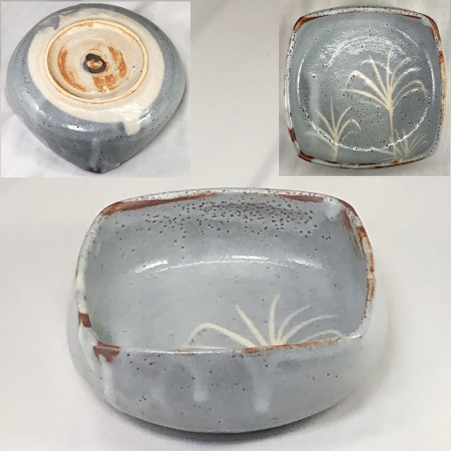 仙山窯鼠志野菓子鉢