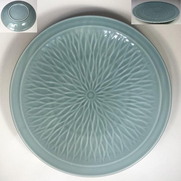 青白磁九寸皿W7294