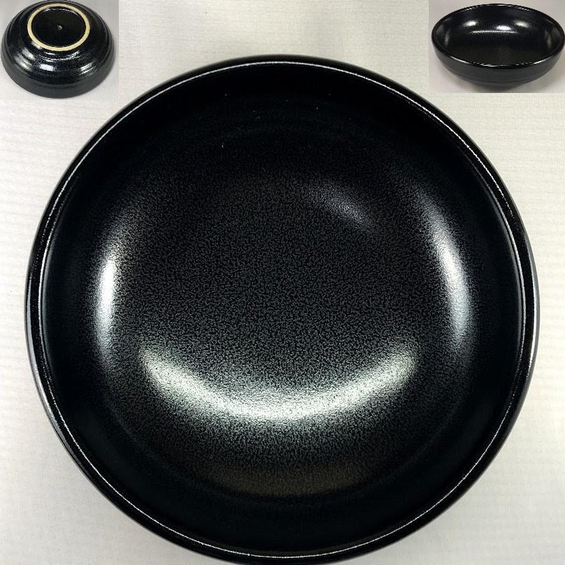 不動窯黒菓子鉢W6972