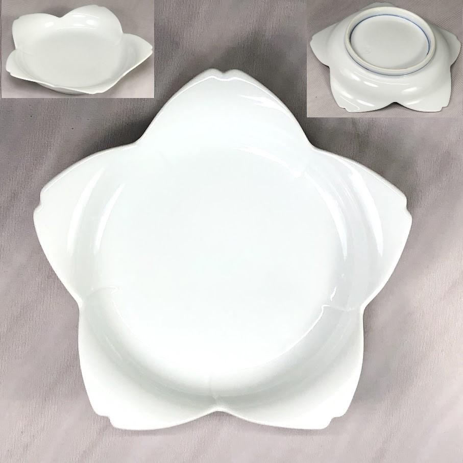 白磁桜形銘々皿W6990
