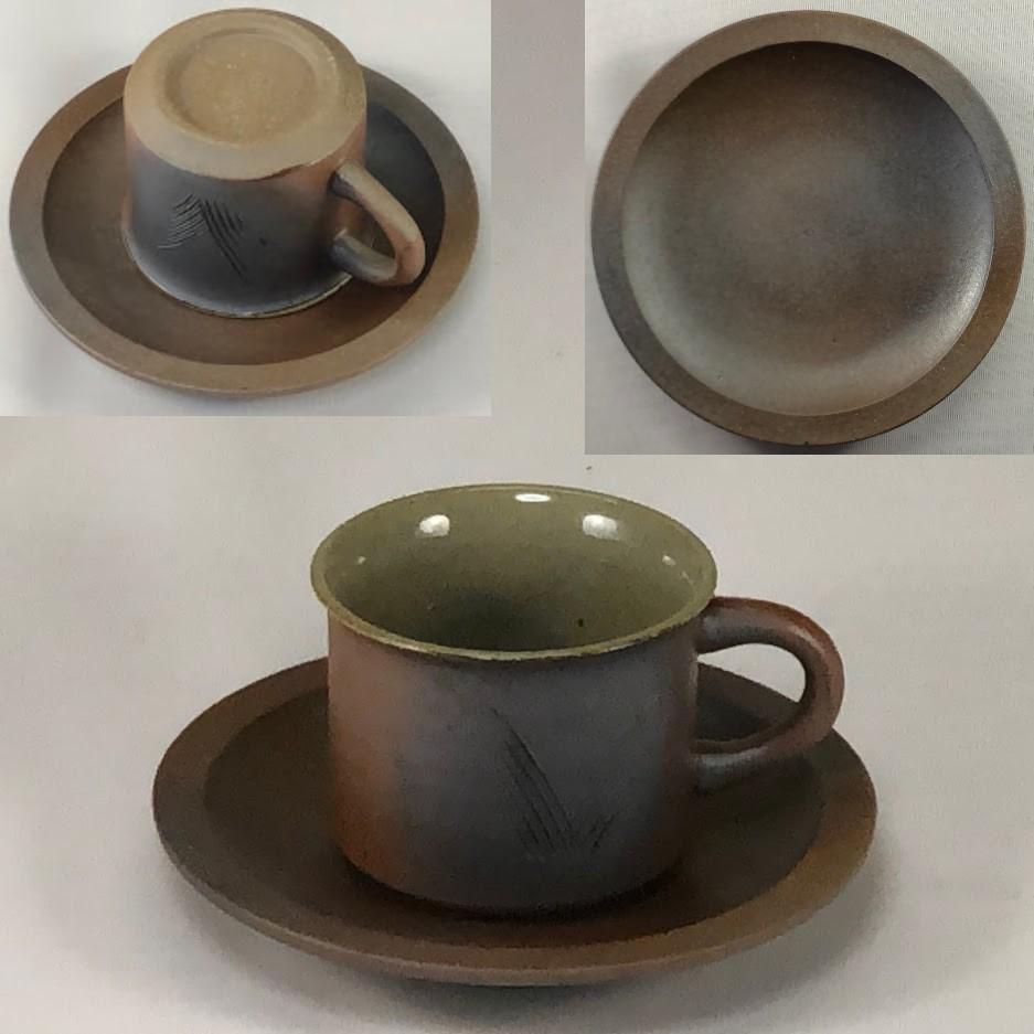 越前焼碗皿W7021