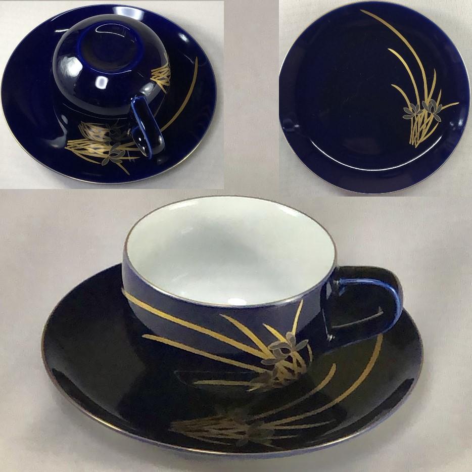 たち吉哲山瑠璃菖蒲碗皿