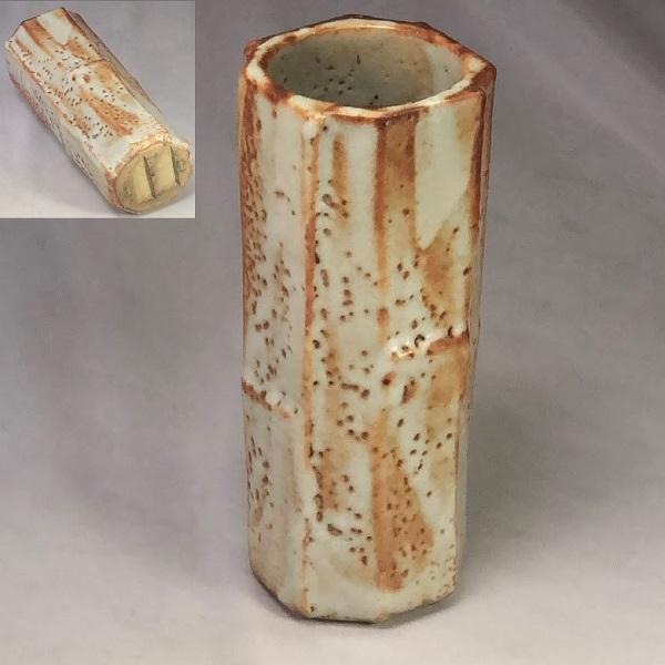 志野八角花瓶W7201
