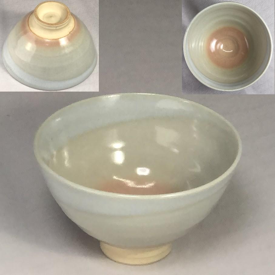 萩焼天鵬抹茶碗W7084