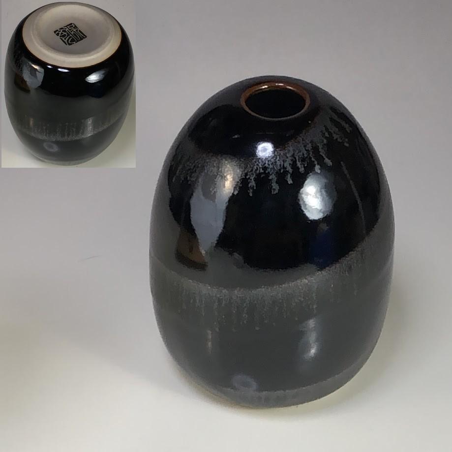 六宝窯天目釉花瓶