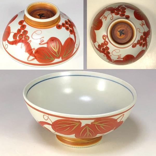 赤絵飯茶碗W7892