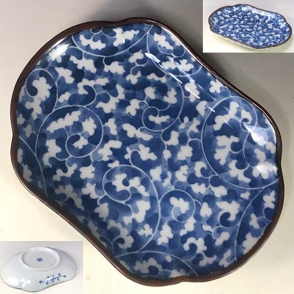第一陶器ぶるー浪漫長皿W7942