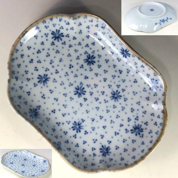 第一陶器ぶるー浪漫長皿W7923