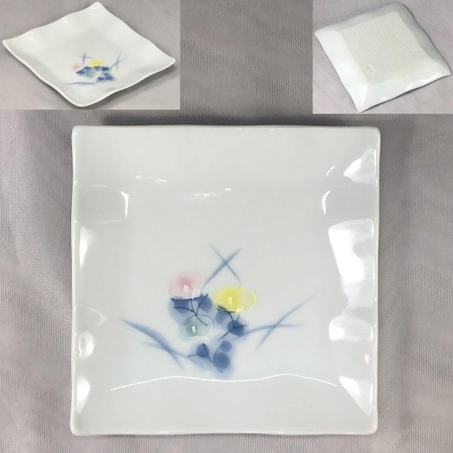 有田焼香窯ひな菊銘々皿