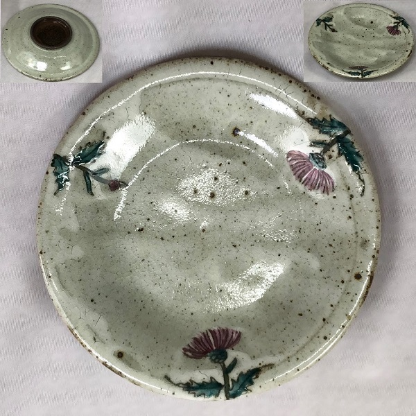 葉月窯アザミ小皿W7216
