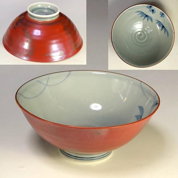有田焼風の木窯飯茶碗W7969