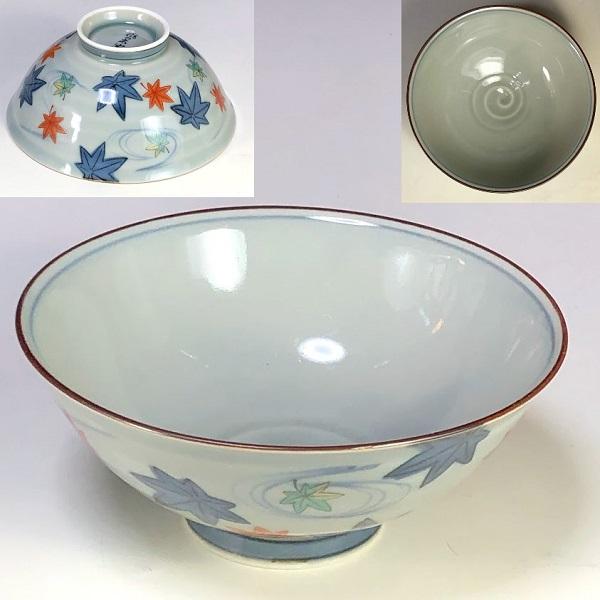 有田焼風の木窯飯茶碗W7984