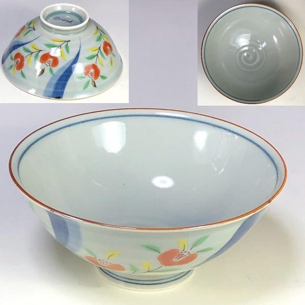 有田焼風の木窯飯茶碗W7977