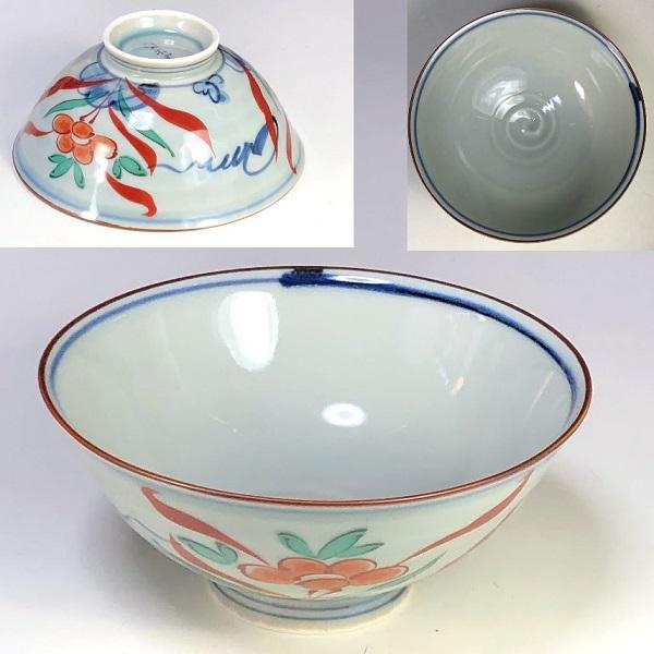 有田焼風の木窯飯茶碗W7951
