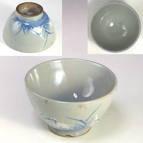 鷺図湯呑W7978