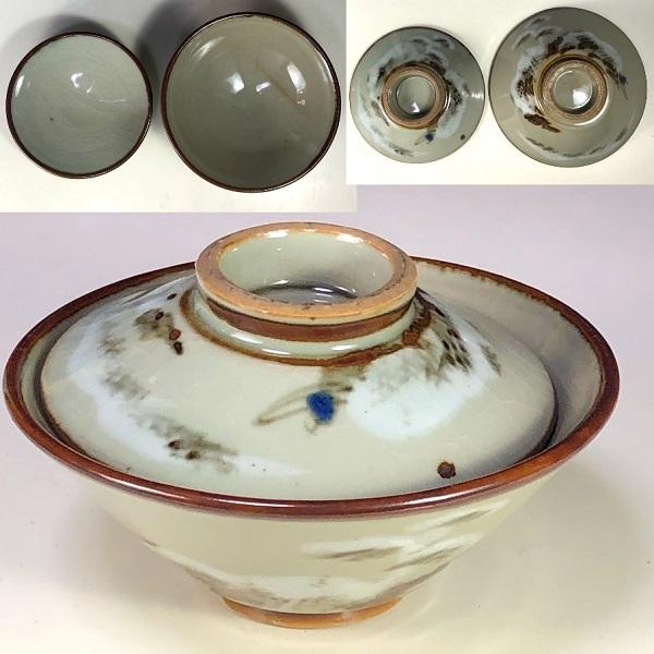 蓋付飯茶碗W7967