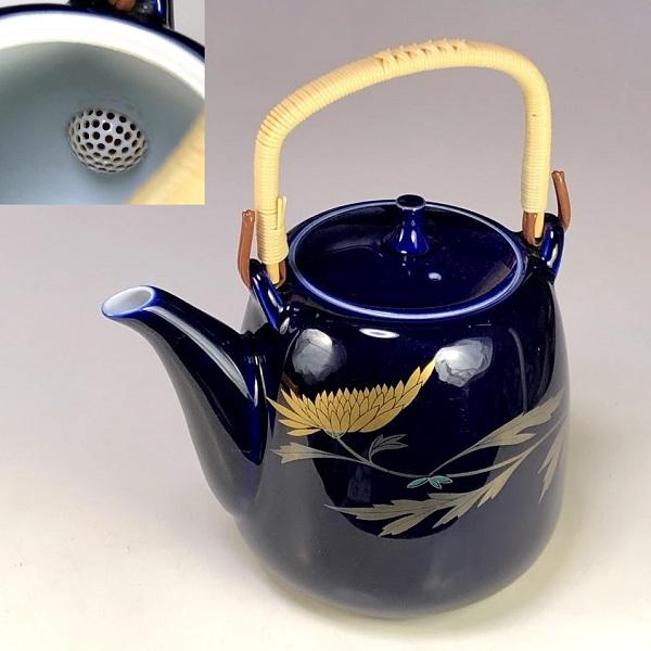 香蘭社瑠璃菊急須W7975