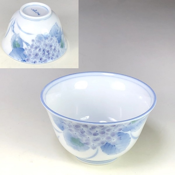 光峰紫陽花湯呑W7986