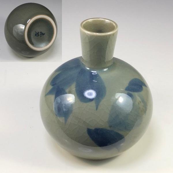 九谷焼小花瓶W7359