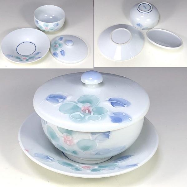 香窯蓋付湯呑茶托付