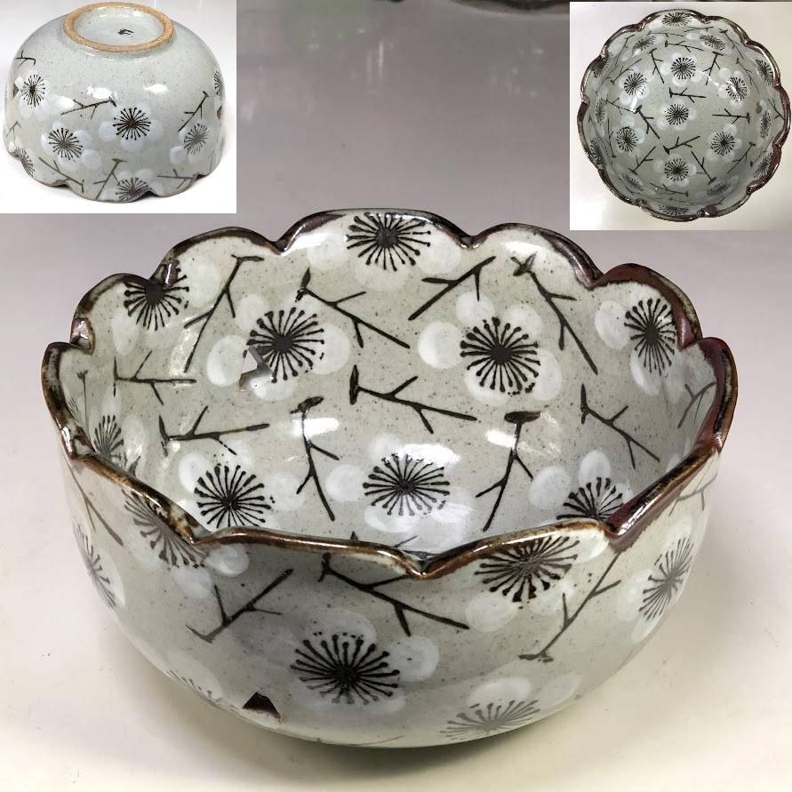 雅陶梅文菓子鉢