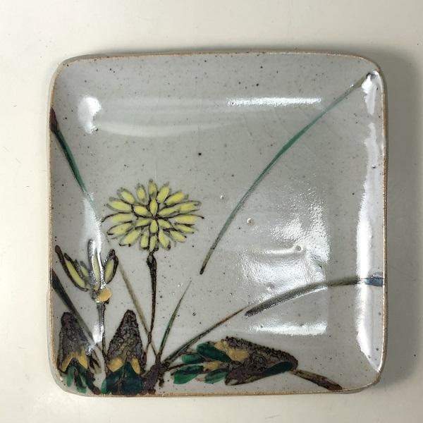 幸兵衛窯タンポポ銘々皿W7848